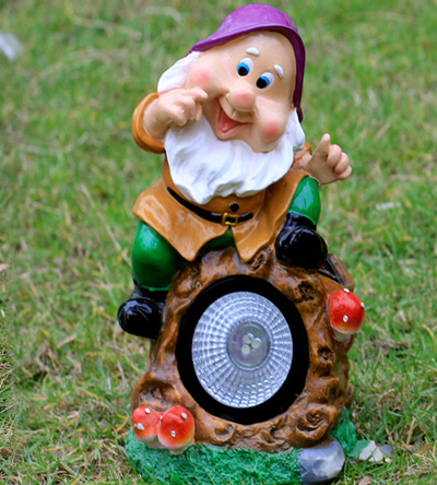 Gnome Seated on Light