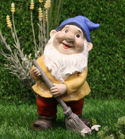 Gnome with a broom