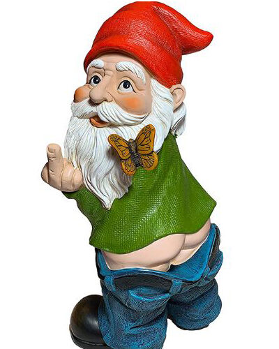 """"""" Peeing Gnome with Butterfly"""""""