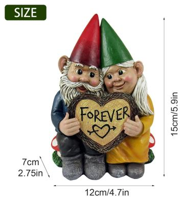 Gnome Couple Forever heart sign