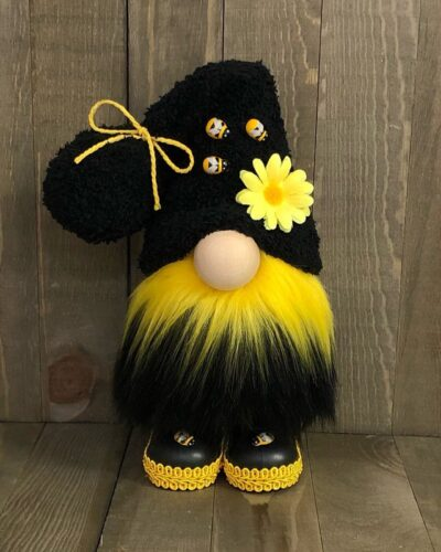 nordic bumble bee striped gnome flower
