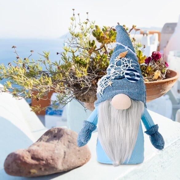 ocean-festival faceless doll deep blue