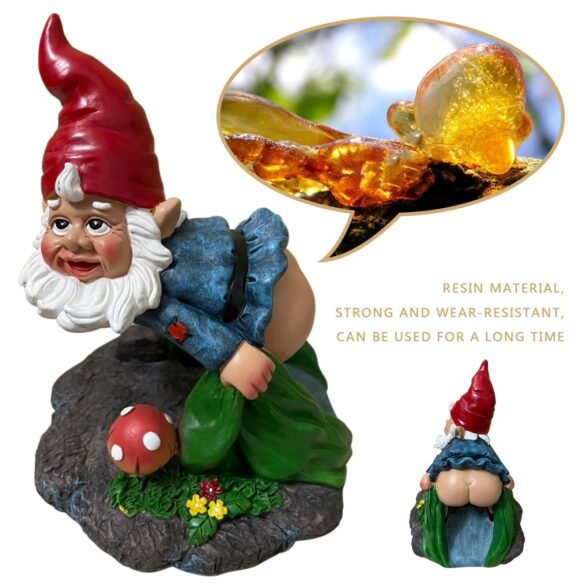 Garden Gnome on downspout