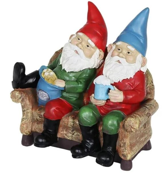 Gnomes Eating Chips And Drinking Beer