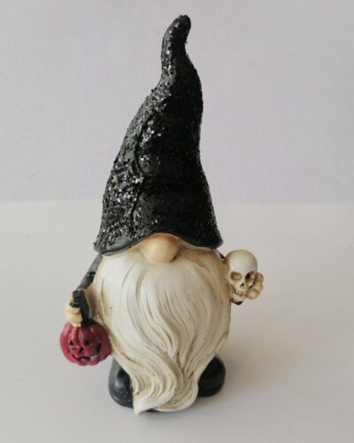 Halloween Gnome with Skull